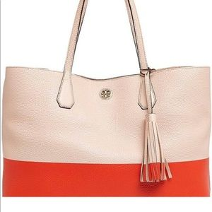 Tory Burch Perry Tote Pink &Orange